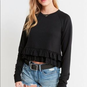 Urban Outfitters Ruffle Crop Sweater